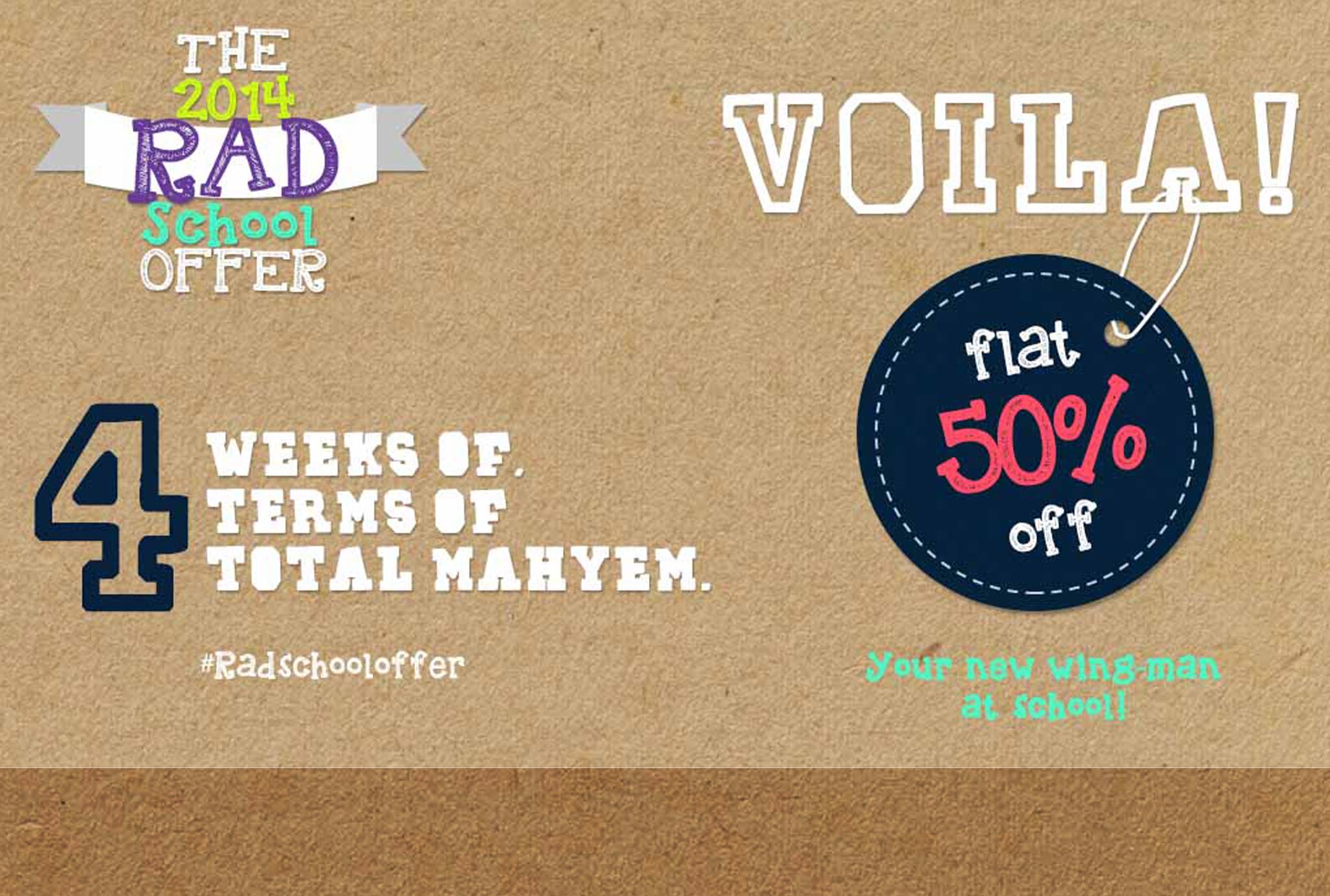 Voila Rad School Offer Banner