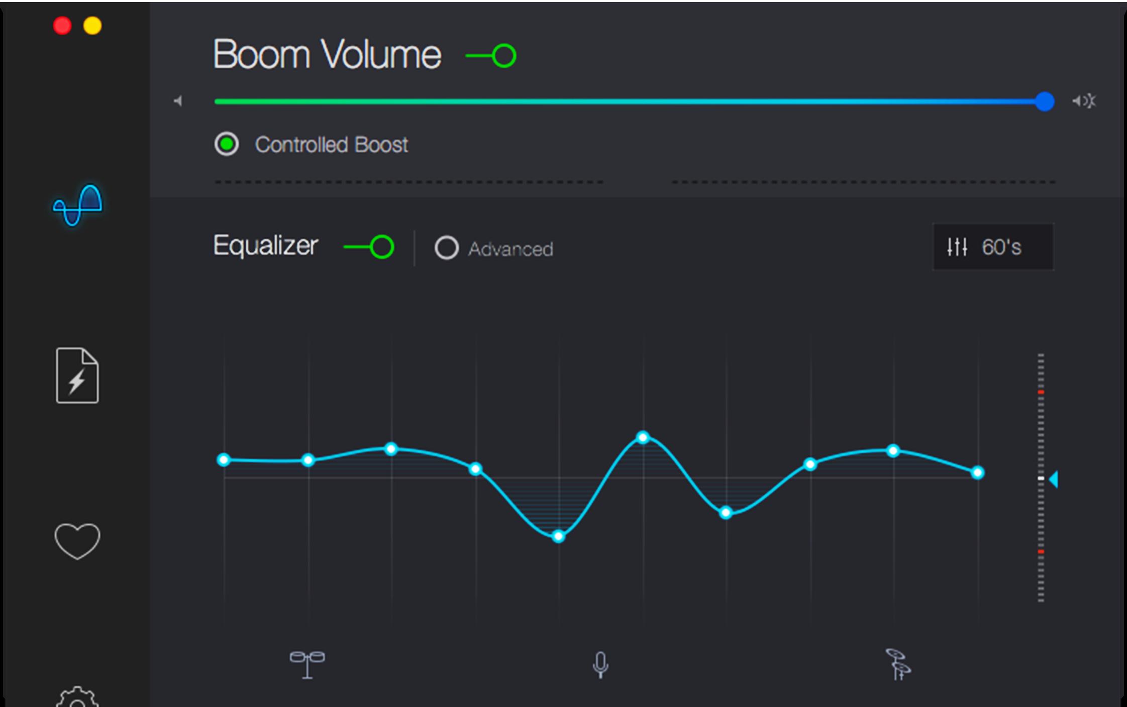 Boom 2 Mac volume booster interface