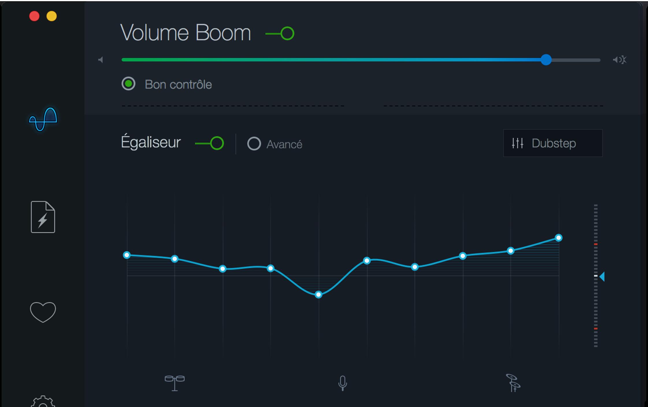 boom 2 mac volume booster effets galiseur audio avanc s. Black Bedroom Furniture Sets. Home Design Ideas